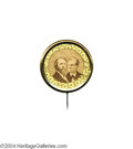 Political:Ferrotypes / Photo Badges (pre-1896), Hayes 1876 Jugate Mate...