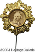 Political:Ferrotypes / Photo Badges (pre-1896), 1876 Hayes Pin...