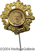 Political:Ferrotypes / Photo Badges (pre-1896), Tilden 1876 ...