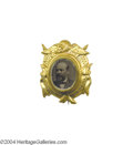 Political:Ferrotypes / Photo Badges (pre-1896), Fabulous 1880 Garfield Shell...