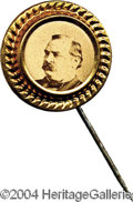 Political:Ferrotypes / Photo Badges (pre-1896), Lovely Cleveland Pin, 1884...