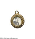 Political:Ferrotypes / Photo Badges (pre-1896), 1884 Grover Cleveland Campaign Charm...
