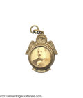 Political:Ferrotypes / Photo Badges (pre-1896), Fancy 1888 Or 1892 Grover Cleveland Charm...