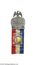 Political:Ferrotypes / Photo Badges (pre-1896), Unusual 1892 Benjamin Harrison Campaign Badge ...