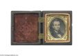 Political:Small Miscellaneous (pre-1896), Very Unusual c.1863-64 Bearded Lincoln Tintype...