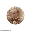"Political:Pinback Buttons (1896-present), Spectacular 3 1/2"" McKinley Button From 1896..."