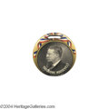 """Political:Pinback Buttons (1896-present), Beautiful And Rare 1 3/4"""" 1912 Teddy Roosevelt Watch Fob..."""