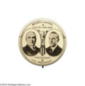 Political:Pinback Buttons (1896-present), Sensational 1920 Harding-Coolidge Jugate Button Rarity...