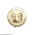 Political:Pinback Buttons (1896-present), Extremely Rare And Distinctive 1928 Smith-Robinson Jugate Button...