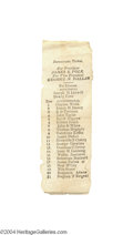 Political:Small Paper (pre-1896), Rare Actual 1844 Cast Ballot For Polk And Dallas...