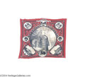 Political:Textile Display (pre-1896), The Matching 1888 Grover Cleveland Single-Portrait Bandana...