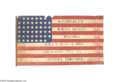 Political:Textile Display (1896-present), Spectacular Large Flag From Teddy Roosevelt's 1900 VicePresidential Campaign...