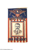 Political:Textile Display (1896-present), Bold, Impressive Theodore Roosevelt Cloth Banner...