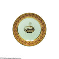Political:3D & Other Display (pre-1896), Rare c.1790's Chinese Export Saucer, With Scene Of Mt. Vernon Dating From When Washington Was President...