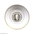 Political:3D & Other Display (pre-1896), Extremely Rare And Important China Plate Picturing James Monroe As President...