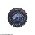 "Political:3D & Other Display (pre-1896), Very Scarce Dark Blue Staffordshire Plate With ""Commodore MacDonough's Victory""..."