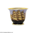 "Political:3D & Other Display (pre-1896), Stunning Hand-Painted Cup, c.1850, With Clipper Ship ""Sunrise""..."