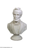 Political:3D & Other Display (pre-1896), Fine Abraham Lincoln Parian Bust, Probably c.1862-63...