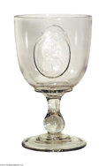 Political:3D & Other Display (pre-1896), Extremely Rare 1872 Greeley And Brown Glass Goblet...