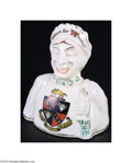 "Political:Miscellaneous Political, 3 1/2"" Multi-Porcelain Figurine With Two Sided Women..."