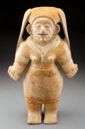 Pre-Columbian:Ceramics, A Large Jama Coaque Female Figure...