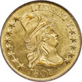 Early Eagles, 1801 $10 BD-2, R.2, MS64 PCGS. CAC....