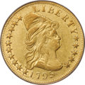 Early Eagles, 1795 $10 13 Leaves, BD-2, High R.4, XF45 PCGS. CAC....