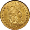 Early Half Eagles, 1798 $5 Large Eagle, Large 8, 13 Stars Reverse, BD-2, R.5, MS62 NGC....