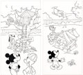 Animation Art:Production Drawing, Mickey's Treehouse Adventure Mickey Mouse and Donald Duck Original Book Art Group of 5 (Walt Disney, 1991).. ... (Total: 5 Original Art)