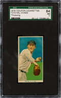 Baseball Cards:Singles (Pre-1930), 1919 T213 Coupon Cigarettes (Type 3) Hal Chase (Throwing) SGC NM 7 - Pop One, None Higher....