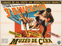 "House of Wax (Warner Bros., 1953). Folded, Fine/Very Fine. Argentinean Two Sheet (43"" X 58"") 3-D Style. Horror..."