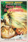 """Movie Posters:Foreign, Two Weeks in September (Paramount, 1967). Folded, Very Fine-. Argentinean One Sheet (29"""" X 43""""). Foreign.. ..."""