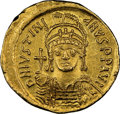 Ancients:Byzantine, Justinian I the Great (AD 527-565). AV solidus (21mm, 4.44...