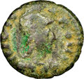 Ancients:Byzantine, c.AD 493-534. AE Half-Follis...