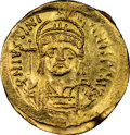 Ancients:Byzantine, Justinian I the Great (AD 527-565). AV solidus (21mm, 4.41...