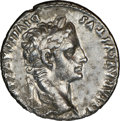 Ancients:Roman Imperial, Ancients: Augustus (27 BC-AD 14). AR denarius (18mm, 11h). NGC Choice VF....