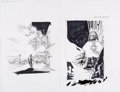 Original Comic Art:Miscellaneous, Ryan Sook B.P.R.D. Hell on Earth: The Return of the Master #1 and 2 Cover Preliminary Sketches Original Art (Dark ...