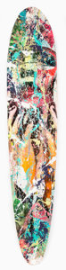 Collectible, DAIN (20th century). Handle Me Softly, 2017. Mixed media in colors on skate deck. 50 x 10 inches (127 x 25.4 cm). Signed...
