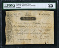Colonial Notes:Virginia, Virginia March 4, 1773 £2 PMG Very Fine 25.. ...