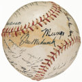 Autographs:Baseballs, 1943 New York Giants Team Signed Baseball (20 Signatures)....