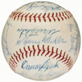 Autographs:Baseballs, 1966 Los Angeles Dodgers Team Signed Baseball - National League Champions & Koufax Final Season (25 Signatures)....