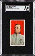 Baseball Cards:Singles (Pre-1930), 1909-11 T206 Sweet Caporal Ty Cobb (Portrait, Red Background) SGC Authentic....