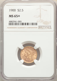 1900 $2 1/2 MS65+ NGC. NGC Census: (208/149 and 6/4+). PCGS Population: (230/108 and 4/5+). MS65. Mintage 67,000. ...(PC...
