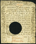 Colonial Notes:Connecticut, Connecticut July 1, 1780 20s Hole Cancel Fine-Very Fine.. ...