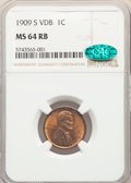 Lincoln Cents, 1909-S 1C VDB MS64 Red and Brown NGC. CAC....