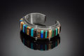 American Indian Art:Jewelry and Silverwork, A Hopi Silver and Stone Bracelet...