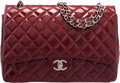 "Luxury Accessories:Bags, Chanel Red Quilted Patent Leather Maxi Double Flap Bag. Condition: 2. 13"" Width x 9"" Height x 4.5"" Depth. ..."