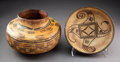 American Indian Art:Pottery, Two Polacca Pottery Vessels... (Total: 2 )