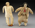 American Indian Art:Beadwork and Quillwork, Two Plains Beaded Hide Dolls... (Total: 2 )