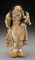 American Indian Art:Beadwork and Quillwork, A Sioux Beaded Hide Female Doll...